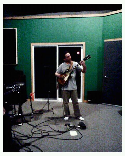 Jon Preston Bouda from the band Discipline in Ben's New York studio (2012)