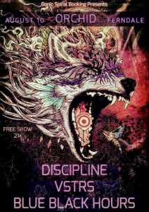 Discipline / VSTRS / Blue Black Hours at the Orchid, Ferndale August 10, 2017