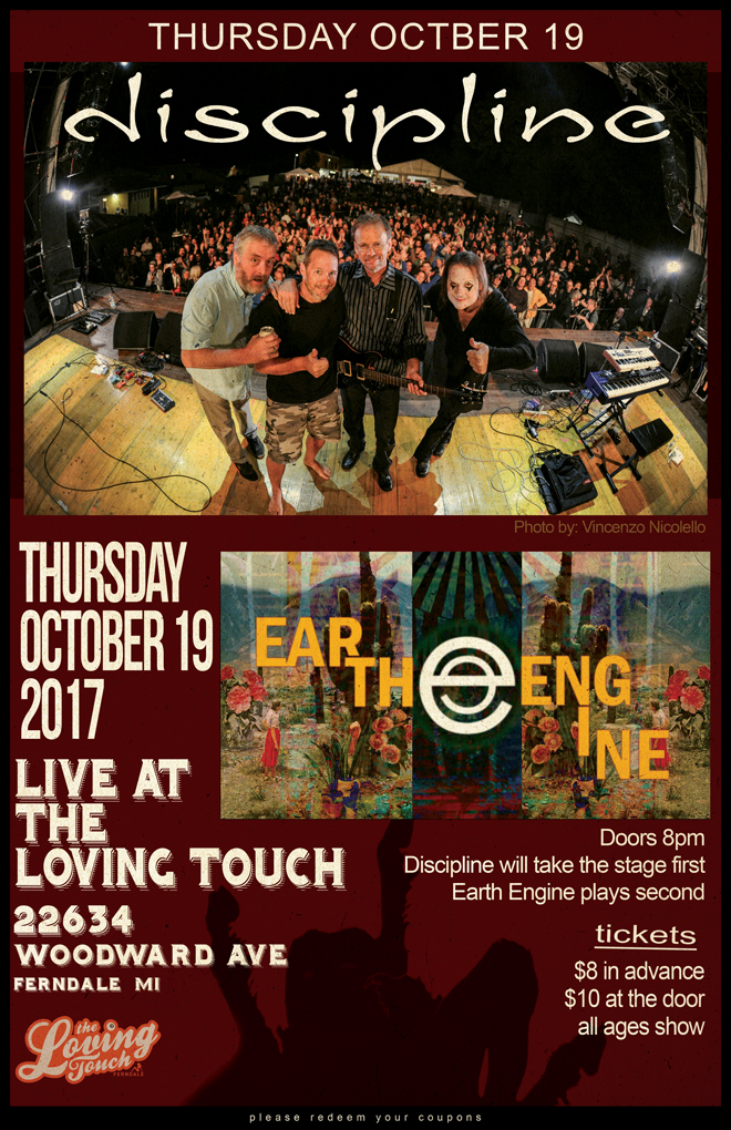 Discipline and Earth Engine at The Loving Touch October 19, 2017